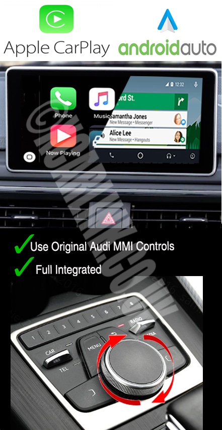 Audi A4 (B9) A4/Q5 2016> Apple CarPlay Android Auto Multimedia Retrofit Interface Kit
