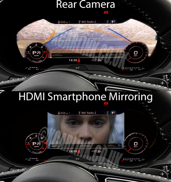 Audi Virtual Cockpit HDMI Multimedia Camera Interface