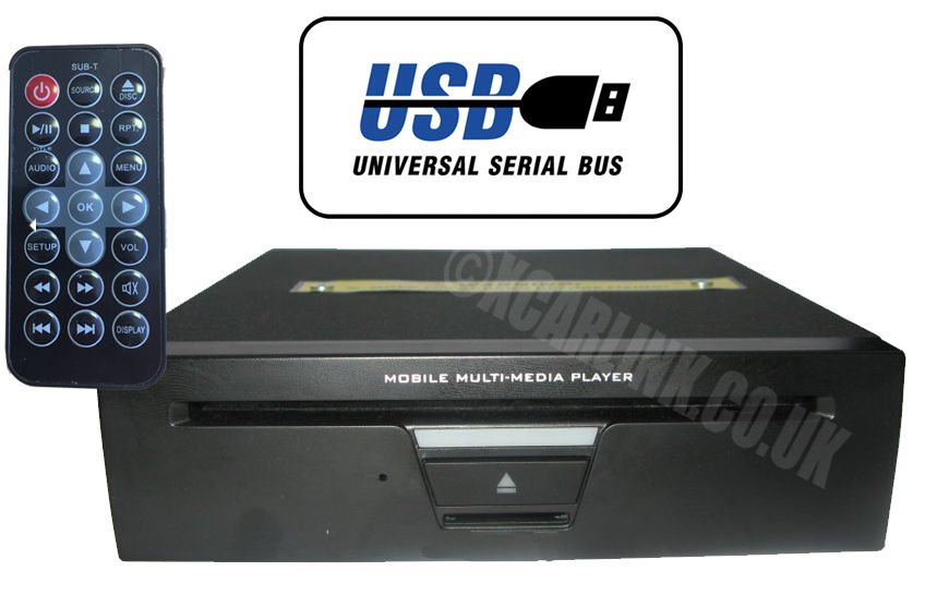 3/4 Din AV & RGB DVD Player with USB/SD
