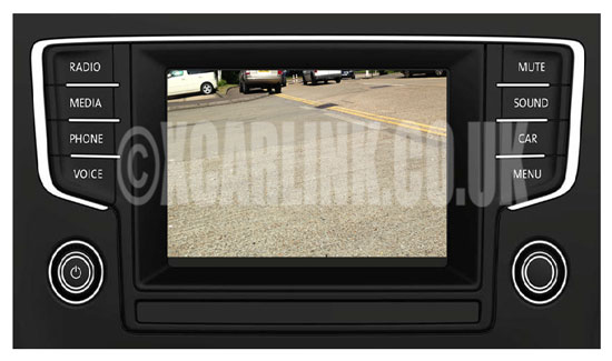 VW Golf Mark VII 7 Multimedia Rear Camera Interface