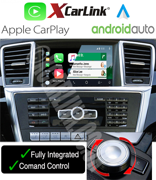 Mercedes NTG 4.5 Wirelesss Apple CarPlay Android Auto Multimedia Retrofit Interface Kit