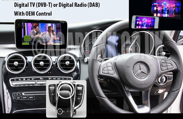Mercedes NTG 5/5.1 Multimeida Video interface with Digital TV/DAB Control