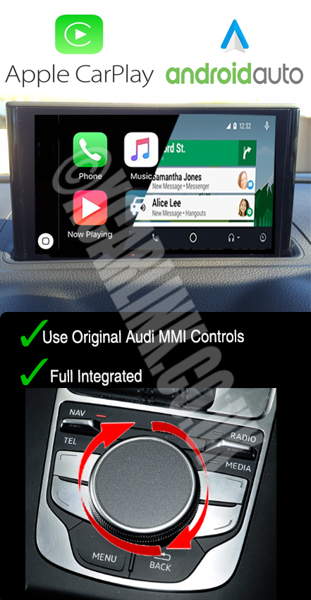 Audi A3 2013> Apple CarPlay Android Auto Multimedia Retrofit Interface Kit