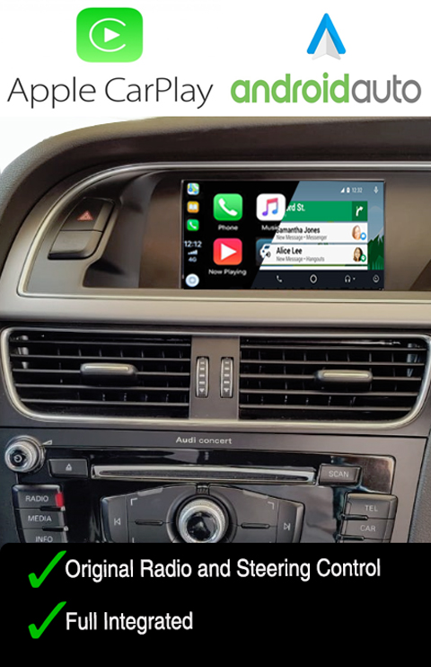Audi Carplay Android Auto Navigation GPS Integration Interface Audi A4/A5/Q5 (Non-MMI) 2008>