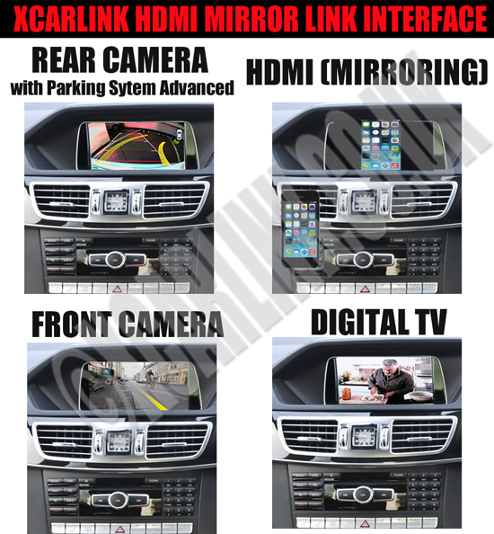 Mercedes NTG4.5 HDMI Multimedia Rear Camera Interface