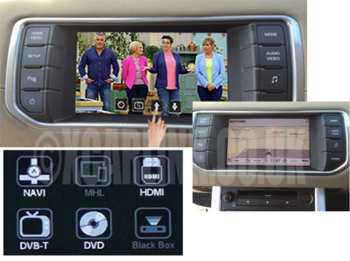 Range Rover/Land Rover/Jaguar TouchPlus Plug and Play Multimedia Interface with Touch screen TV/SatNav